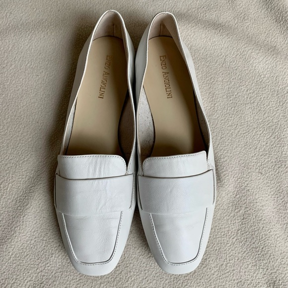 Enzo Angiolini White Loafer LeAnn size 8.5M
